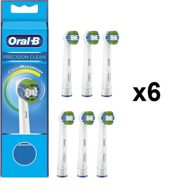 Testine Ricambio Oral-B Precision Clean per Spazzolino Elettrico Confezione 6pz