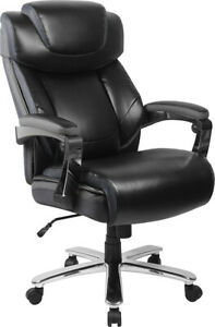 Tall 500 Lbs Capacity Black Leather