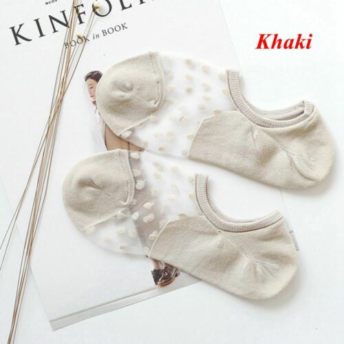 New Transparent Soft Summer Invisible Ankle Socks Crystal Glass Silk Lace Mesh