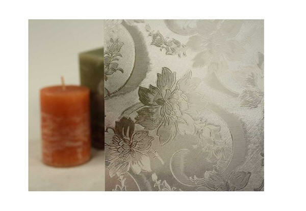 Clear Etched Flower Pattern Static Cling Window Film, 36    Wide x 82 ft fa1c7e