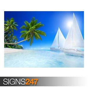 TROPICAL-BEACH-3247-Beach-Poster-Picture-Poster-Print-Art-A0-A1-A2-A3-A4