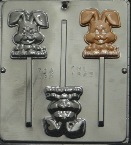 Happy Easter Bunny Lollipop Chocolate Candy Mold Easter 1843 NEW
