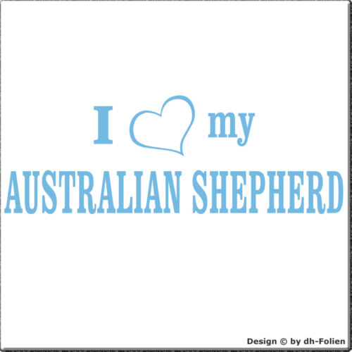 cartattoo4you AI-01346 I love Herz my AUSTRALIAN SHEPHERD Aufkleber Hunde