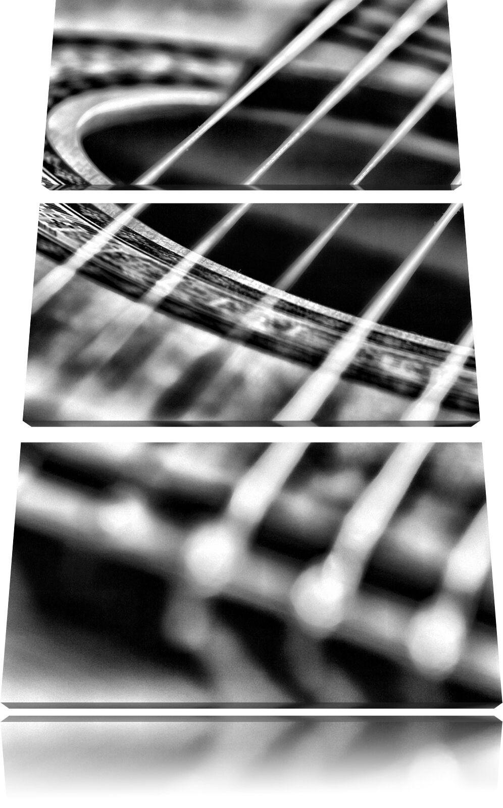 Cuerdas de Guitarra Music Music Music 3-Teiler Foto en Lienzo Decoración Pa rojo  Impresión df0921