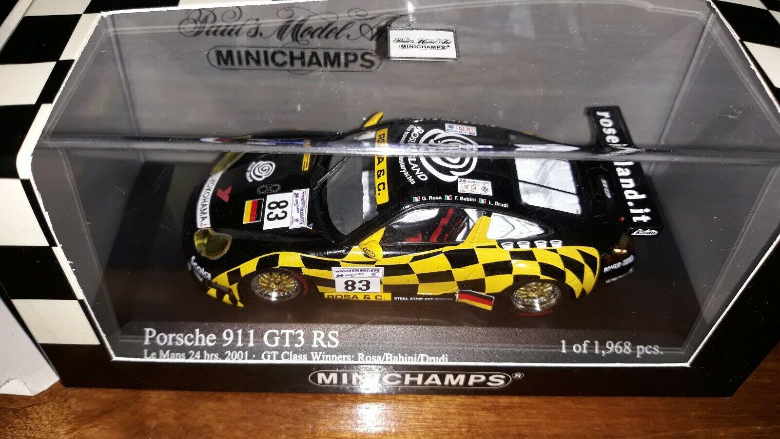 Minichamps 1 43 Porsche 911 GT3 RS  83 Le Mans 2001
