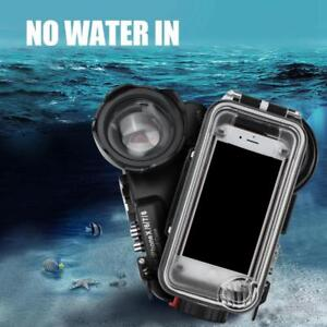 uk availability ed3f6 d2587 Details about 60M/195ft Underwater Diving Waterproof Case with Fisheye Lens  for iPhone X 6 7 8