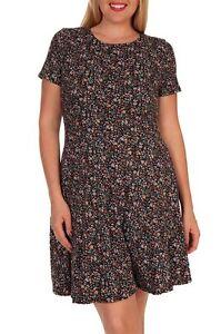 MaiTai-Plus-Size-1X-2X-3X-Floral-Print-Short-Sleeve-Dress