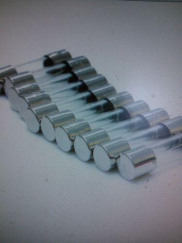 10 x GLASS CARTRIDGE RADIO FUSE 5 AMP DIMENSIONS 20mm x 5mm fus2205 CAR MARINE