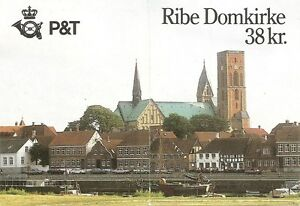 Denmark-SC-835-Stained-Glass-Ribe-Cathedral-Complete-Booklet-MNH