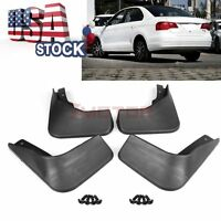 Us Blk Abs Mud Flaps Splash Guard Mudguard Fenders For Vw Jetta Mk6 2015-2017 7m
