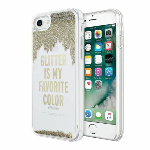 new arrivals f3021 5cab8 Kate Spade iPhone 7 Case Glitter Is My Favorite Color Gold Clear ...