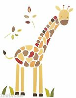 Kidsline Jungle Jigsaw Wall Decals Large Giraffe Boy's Room Safari Nursery Decor