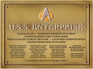 Enterprise-NCC-1701-D-Star-Trek-Plakette-Dedication-Plaque-Replica-neu