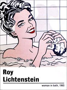 """Roy Lichtenstein Affiche /"""" Moderne Soleil Rayons /"""" Pop Art Affiche en Menthe"""