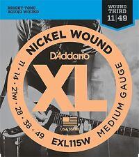 D'Addario 1 set EXL115W Electric Blues/Jazz Guitar Strings