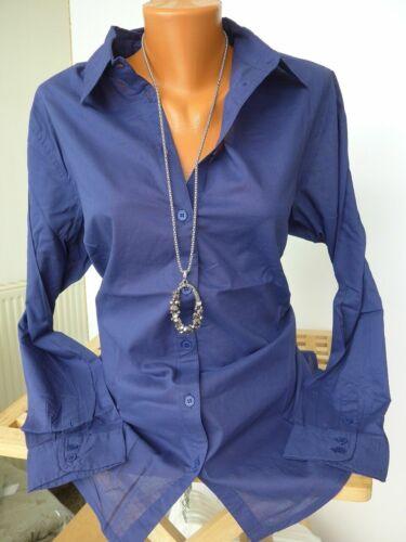 44//46 Blau 933 Sheego Bluse Shirt Langarm Gr NEU