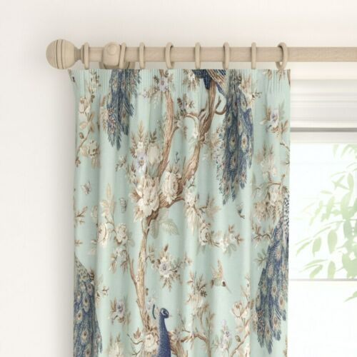 """88/"""" 90/"""" 223cm x 229cm Belvedere Duck Egg Ready Made Curtains L W"""