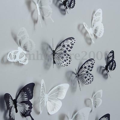 18 PC DIY 3D Butterfly Wall Stickers Art Design Decals Room Decor Home Decor