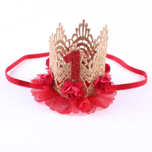 Baby Kids Girls Newborn Headband Princess Crown Hair band Tiara Lace Accessories