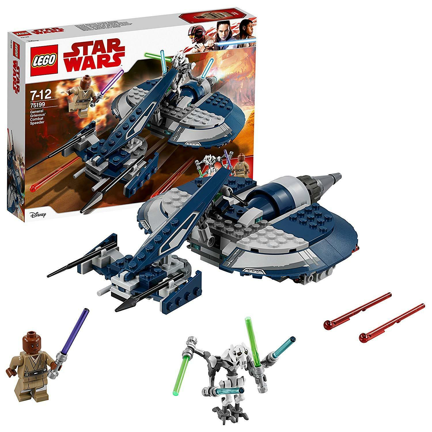 Lego Star Wars 75199 General General General Grievous Combat Speeder Brand New FREE UK P&P 61f63d