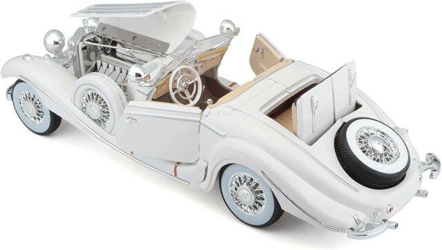 Mercedes-benz 500k tipo Special roadster convertible blanco 1936 1//18 maisto modelo aut