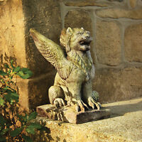 Winged Lion Griffin Outdoor Garden Statue -orlandi Statuary -faux Cement Fs9107