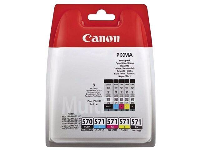 Canon PGI-570/Cli-571 Negro y Color Pixma MG6853 MG7750 Genuino Tinta Cartuchos