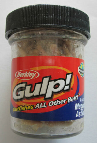 BERKLEY Gulp Maggots 1.5 Ounce Jar Natural White