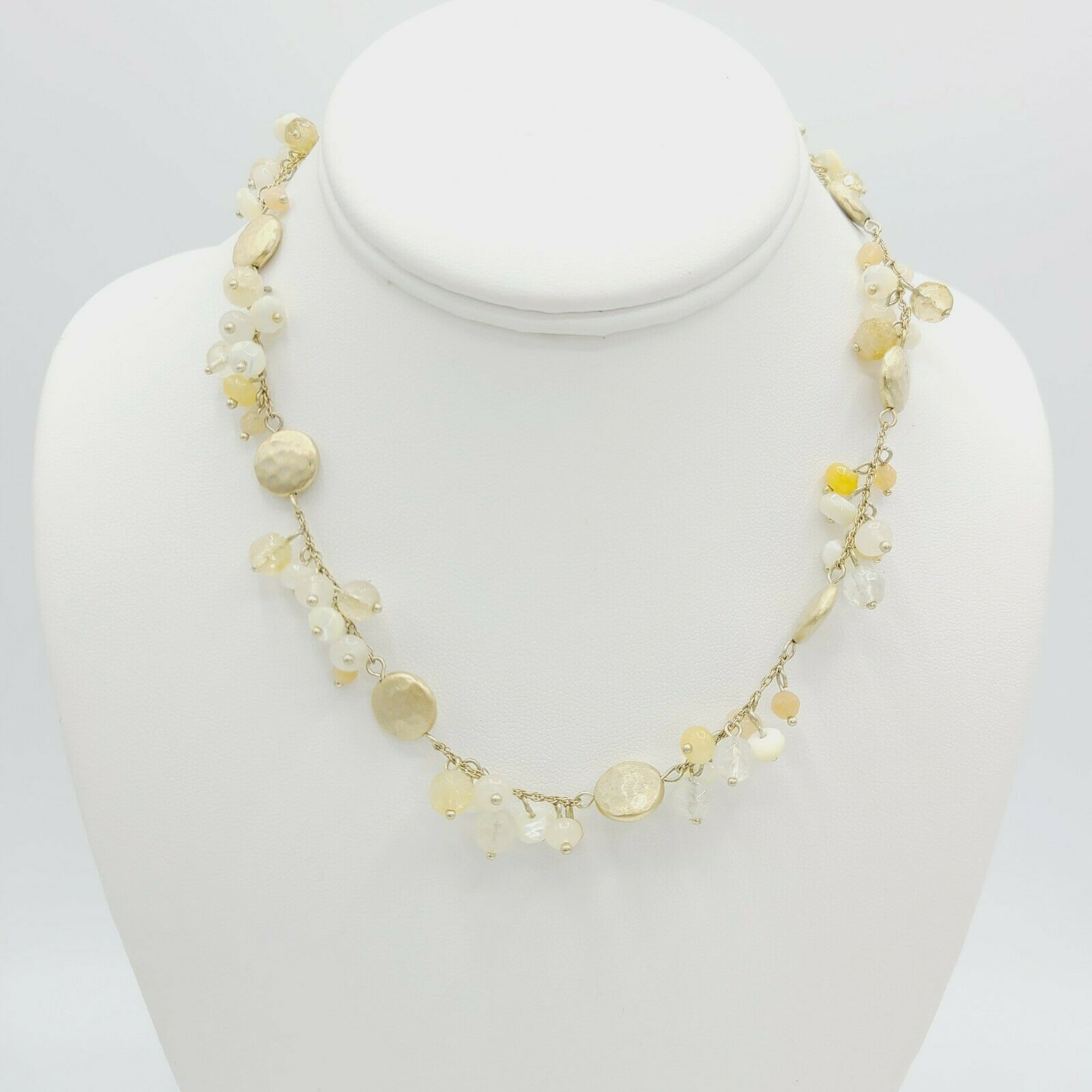 Ann Taylor Multi Beaded Gold Gone Necklace