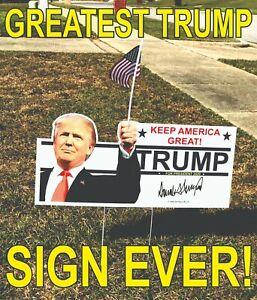 100 Trump 2020 Campaign Political Yard Signs Make America Great Again! MAGA