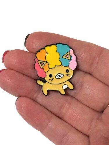 Cat Brooch Pin Badge Rainbow Afro Enamel Jewellery Cat Lover Gift Ginger New UK