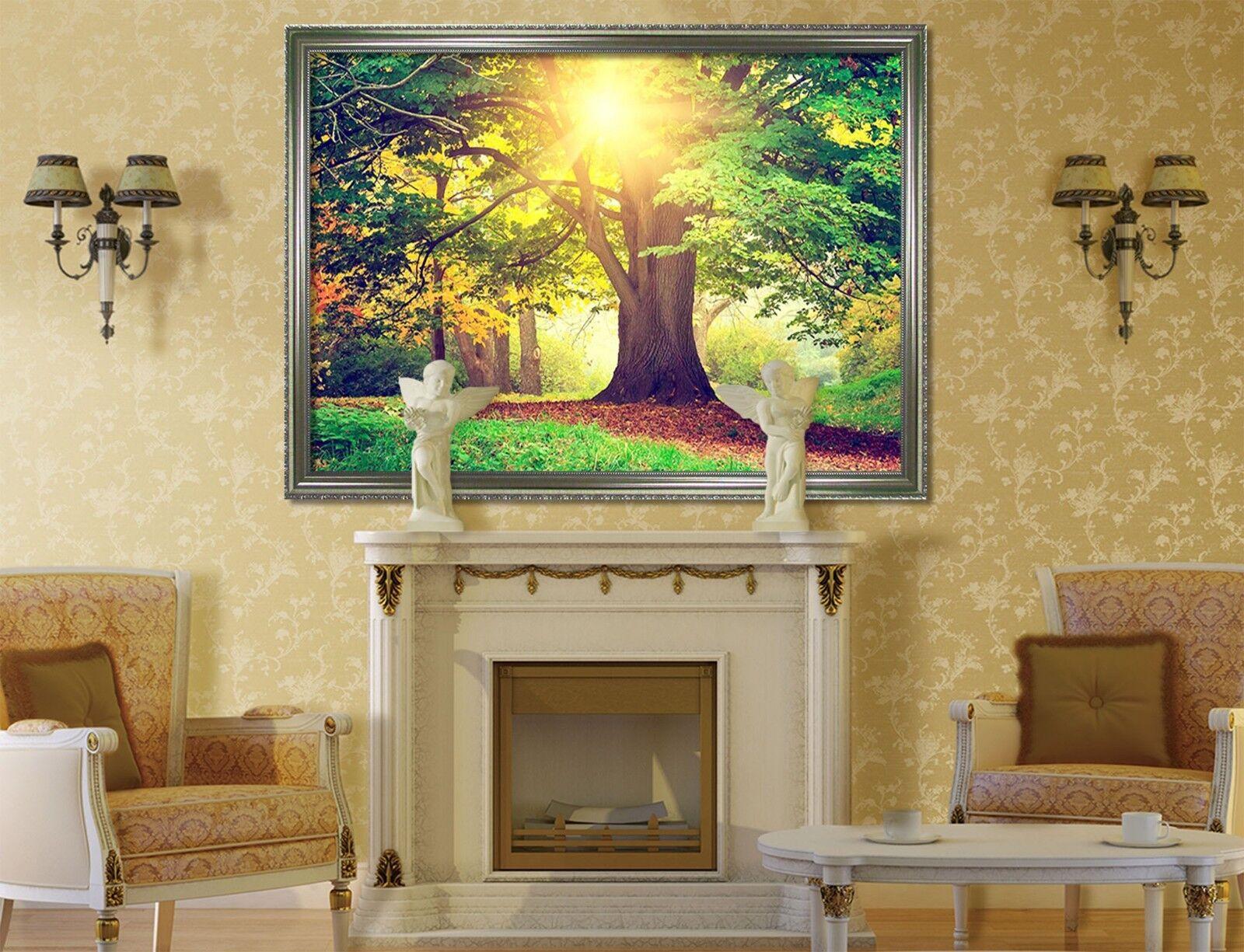 3D Sunshine Tree 60 Framed Poster Home Decor Print Painting Art AJ WALLPAPER UK