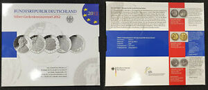 Germany Official Blister With 5 Piece Silver Commemorative Coins 2012 Pf