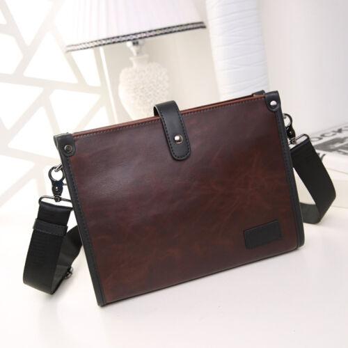 Leather Men/'s Briefcase Messenger Laptop Document File Satchel Bag Tote