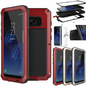 Samsung-Galaxy-Note-9-S9-Shockproof-Waterproof-Metal-Tempered-Glass-Case-Cover