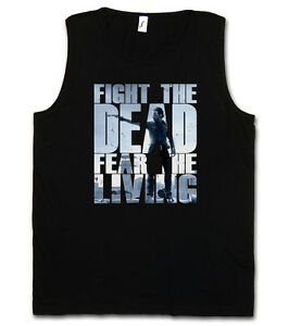 FIGHT-THE-DEAD-FEAR-THE-LIVING-I-TANK-TOP-GYM-VEST-The-Walking-TV-Dead