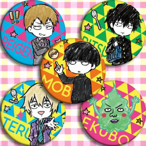 15pcs Mob Psycho 100 Shigeo Kageyama Badge Itabag Button Cosplay Holiday Gift