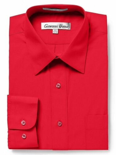 Gentlemens Collection Men/'s Regular Fit Long Sleeve Solid Dress Shirt Colors
