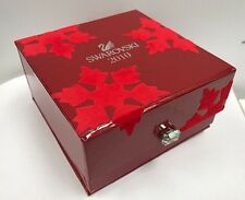 SWAROVSKI SCS 2010 RED SATIN LINED DISPLAY JEWELRY TRINKET ORNAMENT BOX w/ JEWEL