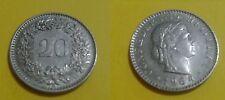 SVIZZERA - 20 cent Confederatio Helvetica - anno 1964 - 385