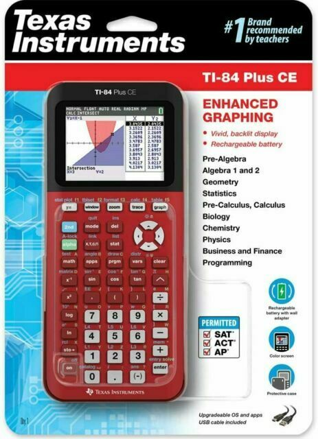 BRAND NEW Texas Instruments TI-84 Plus CE Graphing Calculato