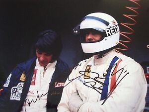 MERZARIO-amp-Redman-firmato-12x8-FERRARI-SPORT-PROTOTIPI-ritratto-MONZA-1000kms-1972