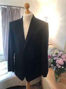 Austin Reed 42r Pure New Wool Black Pinstripe Suit Jacket Immaculate Bnnt Ebay