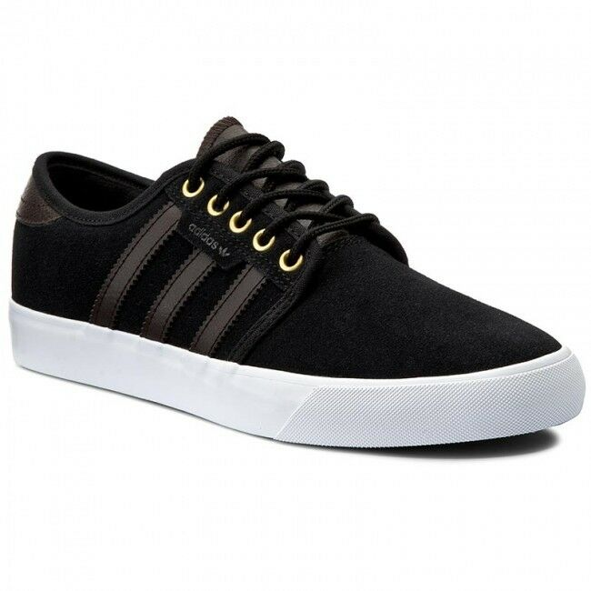 Adidas Men's Low Seeley Originals Retro Sneakers Shoes Black Trainers Unisex