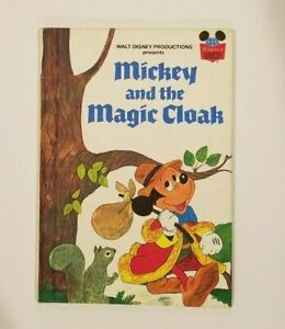 Disney-Wonderful-World-of-Reading-Mickey-Mouse-Magic-Cloak-Picture-Book-VG