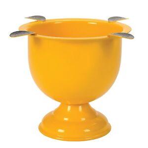 Stinky - 4 Stirrup Tall Deep Dish Cigar Ashtray - Safety Yellow