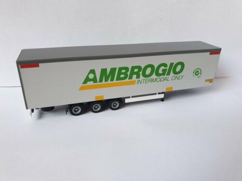 Ambrogio Trasporti S.p.A intermodal only-Italy-Bahn tráiler-Caballito 19 Herpa -