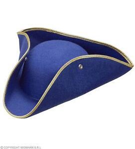colori armoniosi belle scarpe prezzo basso Dettagli su Widmann-cappello tricorno feltro Adulto Unisex, rosso