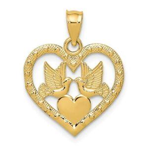 23mm 14K White Gold Dove Charm