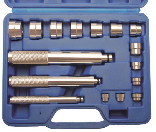 BGS Lager-Eintreiber Satz 16-tlg Druckstücke Kugellager einpressen Montieren Set